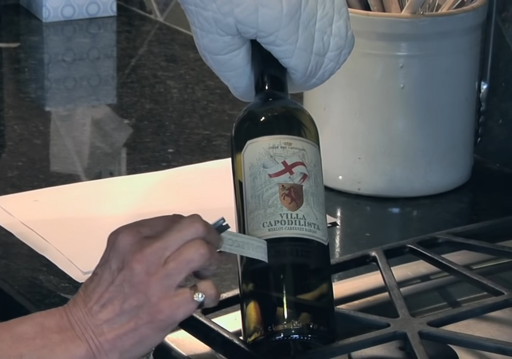 How to remove wine bottle labels with ease